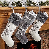 Personalized Christmas Stocking - Shimmering Snowflake - 16278