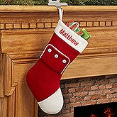 Personalized Christmas Knit Stocking - Christmas PJs - 16282