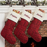 Personalized Christmas Stockings - Holiday Carols - 16286