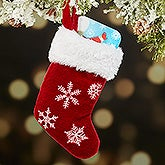 Winter Wonderland Snowflake Mini Stocking Christmas Ornament - 16287