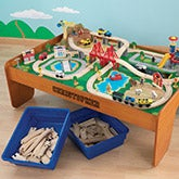 KidKraft Personalized Waterfall Mountain Train Set and Table - 16288D