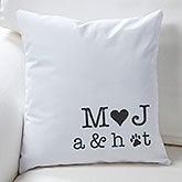 Personalized Decorative Throw Pillows - Family Initials - 16300
