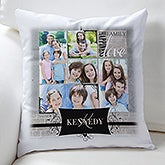 Personalized Photo Throw Pillow - Family Memories - 16301