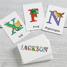 Personalized Alphabet Animals Kids Flash Cards - 16309