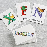 Personalized Alphabet Animals Kids Flash Cards - 16309