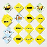 Personalized Kids Memory Game - Transportation Time - 16310