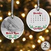 Personalized Photo Baby Christmas Ornament - Baby's 1st Christmas Calendar - 16322