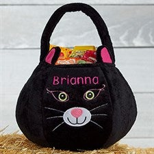 Personalized Plush Treat Bag - Black Cat - 16325