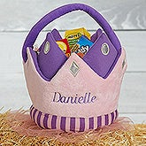 Personalized Plush Treat Bag - Princess Crown - 16326