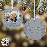 Personalized Photo Memorial Ornament For Him - In Loving Memory - 16333