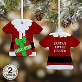 Personalized T-Shirt Christmas Ornament - Santa's Little Helper - 16334