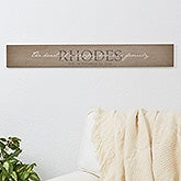 Personalized Wooden Sign - Heart Of Our Home - 16341