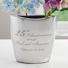 Personalized Romantic Silver Vase - Everlasting Love - 16342