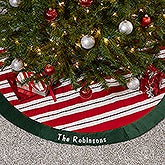 Personalized Christmas Tree Skirt - Candy Cane Sparkle - 16350