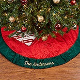 Personalized Christmas Tree Skirt - Holiday Splendor - 16352