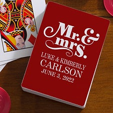 Personalized Wedding Playing Cards - Happy Couple - 16354