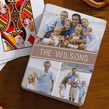 Personalized Photo Playing Cards - 3 Photo Collage - 16356