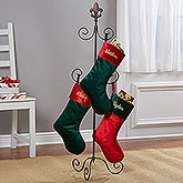 Fleur De Lis Christmas Stocking Hanger Stand - 16359