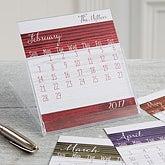 Family Love Personalized Desk Calendar - Rustic - 16373