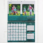 Personalized Photo Wall Calendar - Rustic - Family Love - 16374