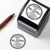 Personalized Self-Inking Address Stamp - Circle Of Love - 16375