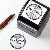 Personalized Self-Inking Address Stamper - Circle Of Love - 16375