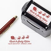 Personalized Christmas Self-Inking Stamper - Santa Sleigh - 16383