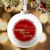 Personalized Baby's First Christmas Globe Christmas Ornament - 16387