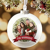 Personalized Photo Globe Christmas Ornaments - Classic Holiday - 16389