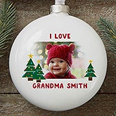 Personalized Photo Christmas Ornaments - Hugs & Holiday Wishes - 16390