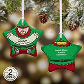 Double Sided Personalized Christmas Ornament - Vintage Elf