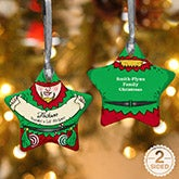 Personalized Christmas Ornaments - Vintage Elf - 16397