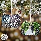 Photo Christmas Ornaments - Wonderful Life As Husband and Wife - 16399