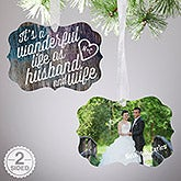 Photo Christmas Ornaments - Wonderful Life As Husband and Wife - 16399