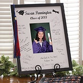 Personalized Autograph Graduate Picture Frame - 1640