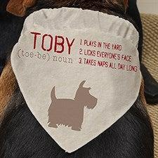 Personalized Pet Bandana - Definition Of My Dog - 16404