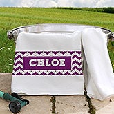 Personalized Pet Towel - Chevron - 16410