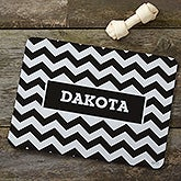 Personalized Dog Bowl Mat - Chevron - 16414