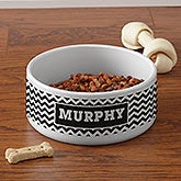 Personalized Pet Bowls - Chevron - 16415