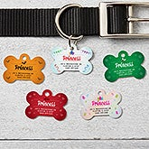 Personalized Bone Holiday Pet ID Tags - 16416