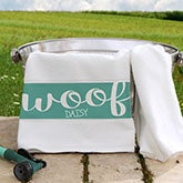 Personalized Pet Towel - Woof & Meow - 16417