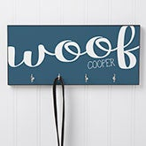 Personalized Leash Hanger - Woof & Meow - 16418