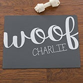 Personalized Pet Meal Mat - Woof & Meow - 16419