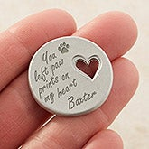Personalized Pet Memorial Heart Pocket Token - 16422