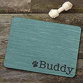 Personalized Pet Food Mat - Pet Initials - 16423