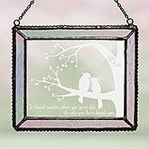 Custom Personalized Suncatcher - Love Birds - 16430