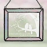 Custom Personalized Suncatcher - Love Birds - 16430