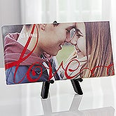 Personalized Romantic Tabletop Canvas Print - Love Always - 16432