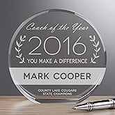 Personalized Premium Crystal Award - Coach Of The Year - 16441
