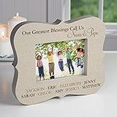 Personalized Grandkids Picture Frame Block - 16447
